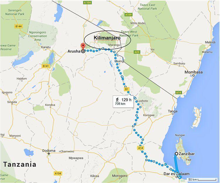 Kilimanjaro. Trayecto hasta Arusha