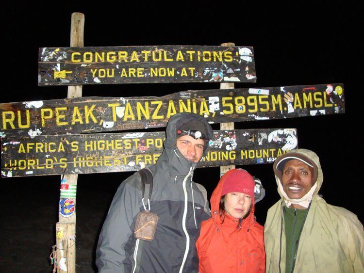 Kilimanjaro. En la cima