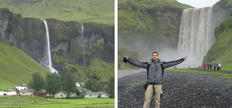Islandia. Cascada de Skógafoss