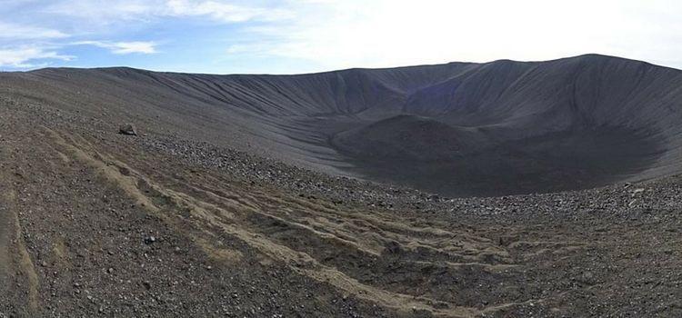 Islandia. Cráter de Hverfell