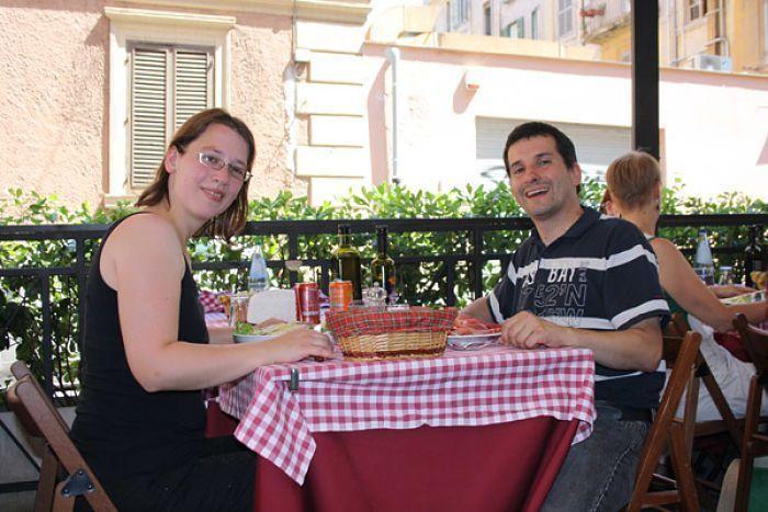 Roma. Comiendo en Trestevere