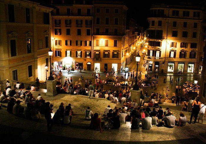 Roma. Plaza de España desde la escalinata