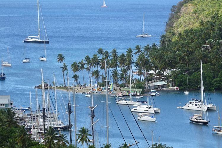 Isla de Santa Lucía. Marigot Bay