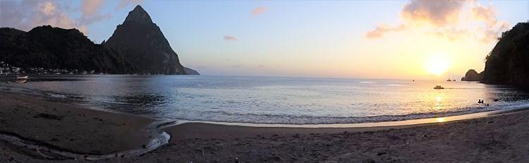 Isla de Santa Lucía. Puesta de Sol