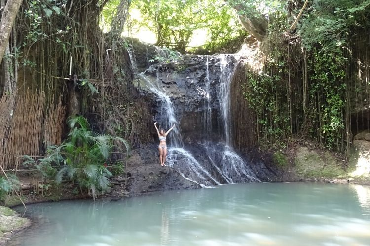 Isla de Santa Lucía. La Tille Falls