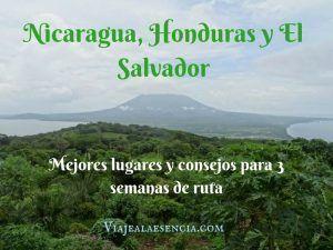 Nicaragua, Honduras y El Salvador. Portada