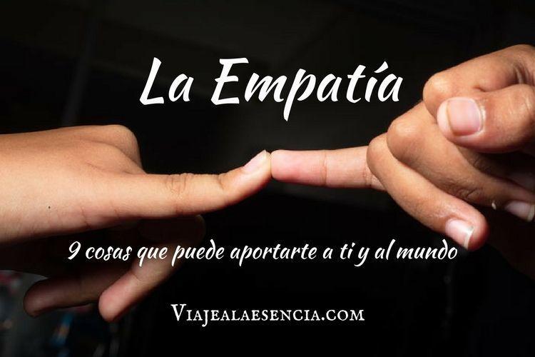 La empatía. Portada