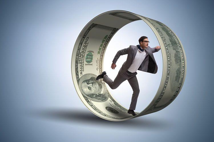 Ser rico. Rueda de dinero