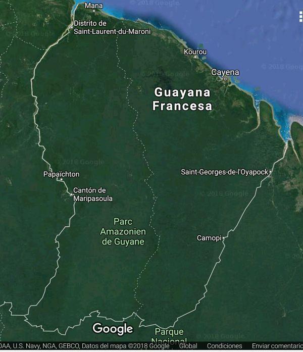 Guayana francesa. Geografía