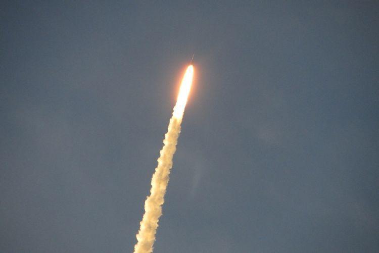 Guayana francesa. El centro espacial. Satélite.
