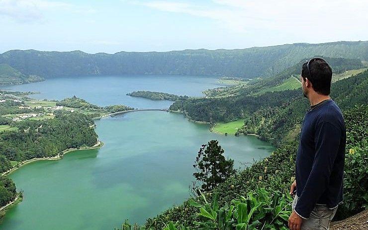 Azores. Sete cidades. En Sao Miguel