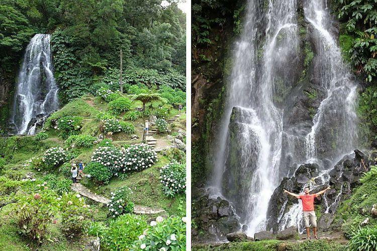 Azores. Cascada Véu da noiva