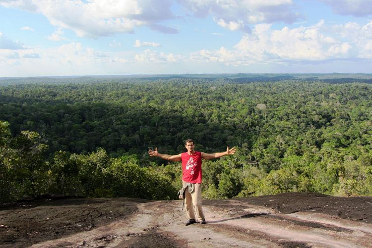 Guayana francesa lugares. Vistas desde inselberg