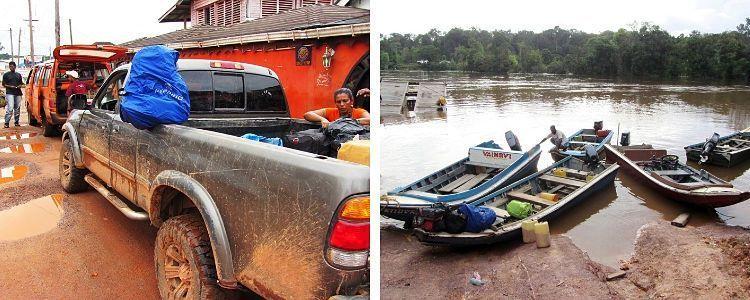 Surinam y Guyana. Transportes