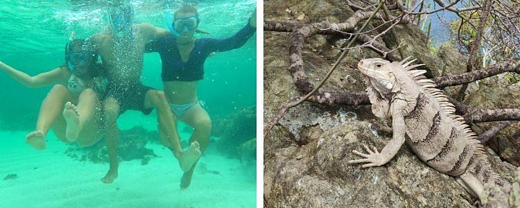 Nadando en Tobago Cays
