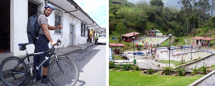 Camino a los termales de Coconuco, en Popayán