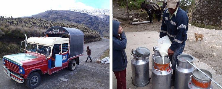Acompañando al lechero en Manizales