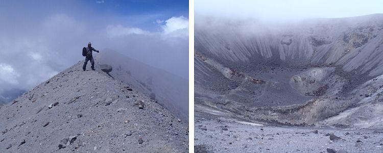 Cráter del Volcán Puracé. Colombia
