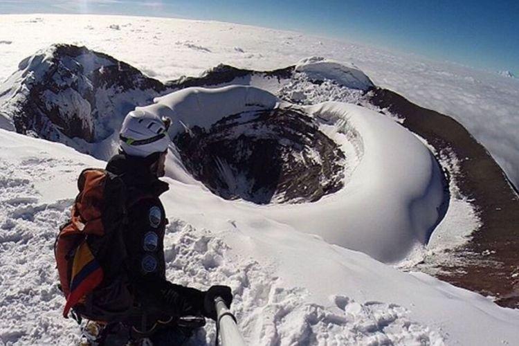 La cima del Cotopaxi en día despejado