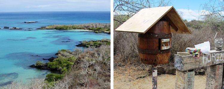 barril de correos de isla Floreana (Galápagos)