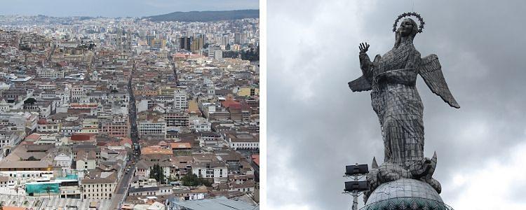 Quito y la Virgen del Panecillo