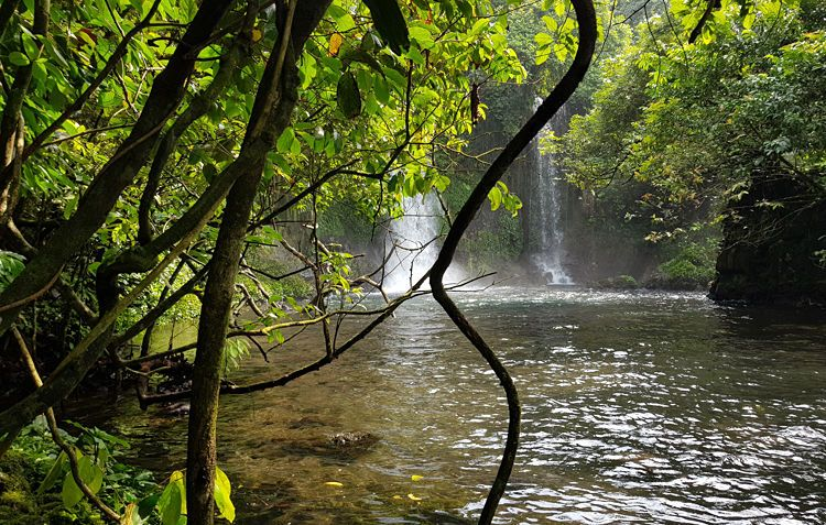 Las cascadas Ureka, en Bioko
