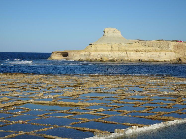 Salinas de Marsalforn o de Il-Qbajjar, en Gozo (Malta)