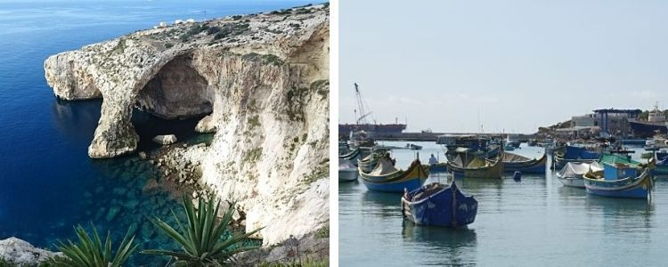 Blue Grotto y Marsaxlokk
