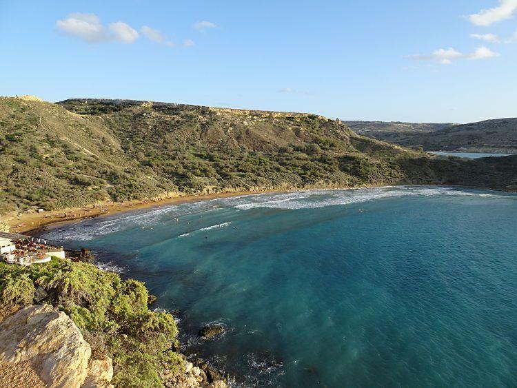 Ghajn Tuffieha, una de las mejores playas de Malta