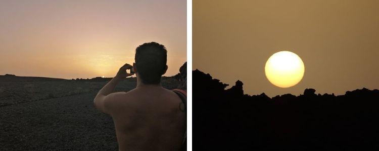 Puesta de Sol en Playa Nueva (Echentive), sur de La Palma