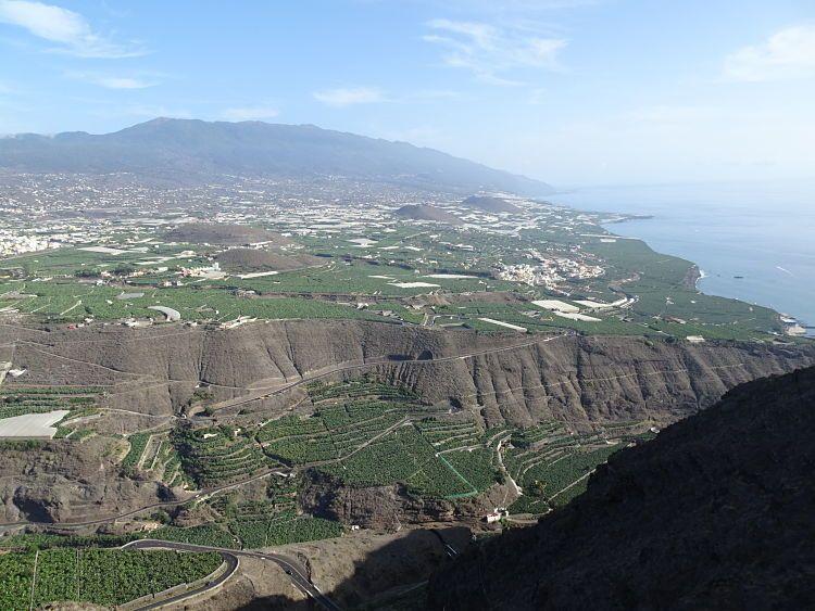 Vistas desde el mirador de El Time, La Palma