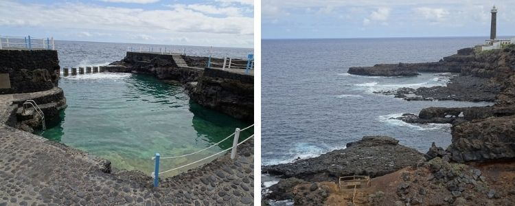 Charco azul y paisajes del noreste de La Palma