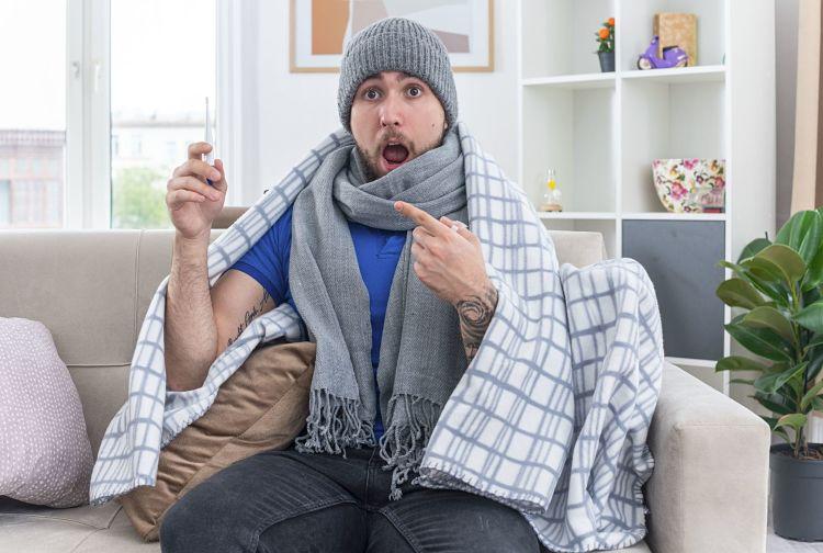 Pasar el coronavírus implicó altas fiebres